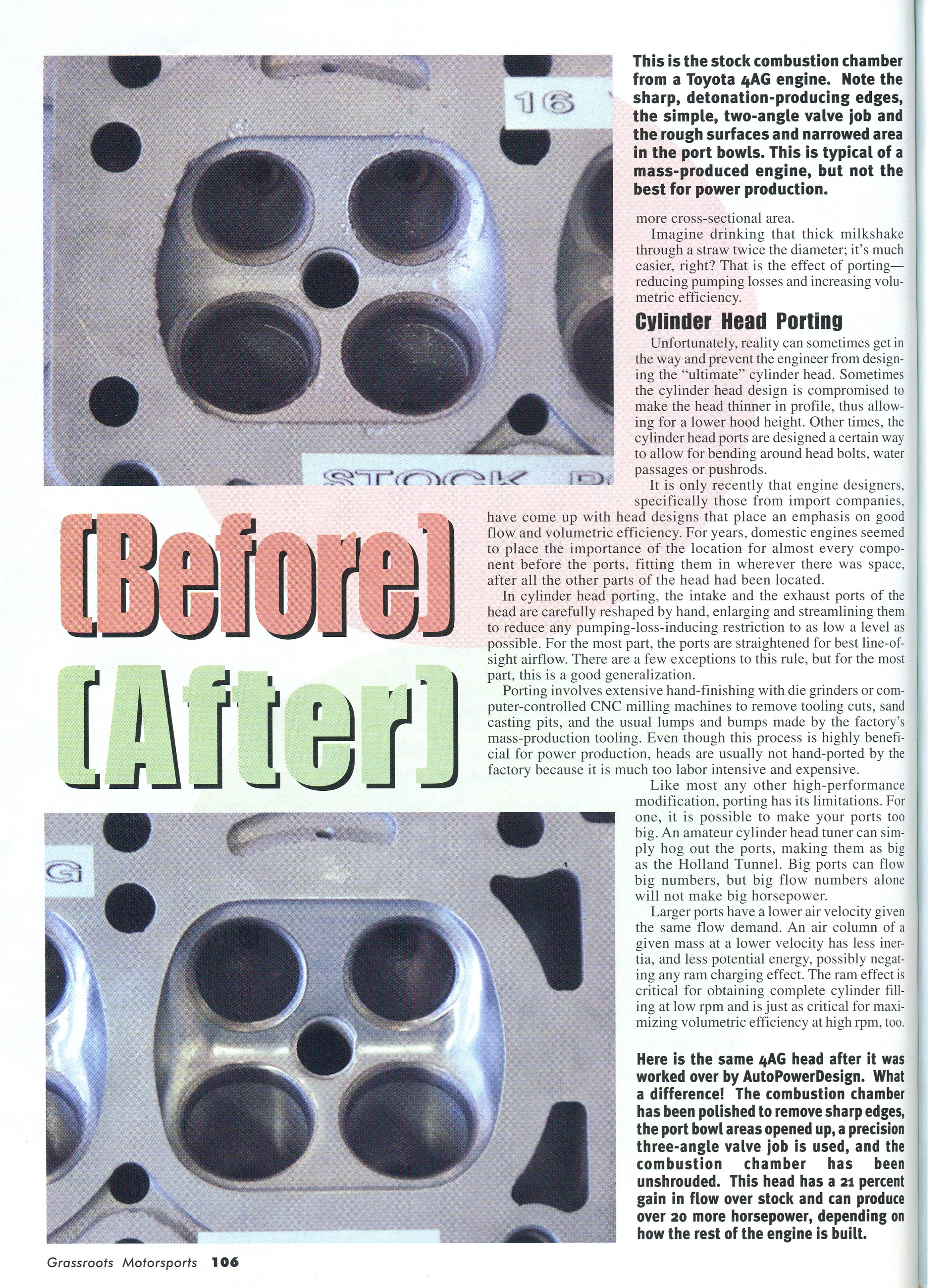 Secrets of cylinder head modifications