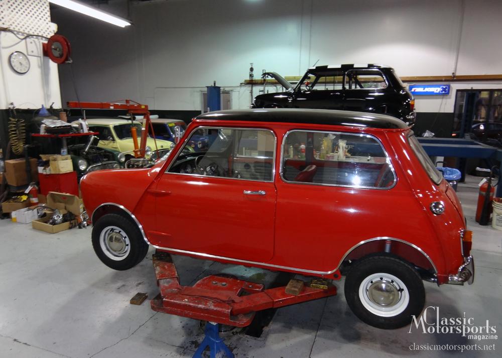 visiting heritage garage austin mini cooper s project car updates. Black Bedroom Furniture Sets. Home Design Ideas